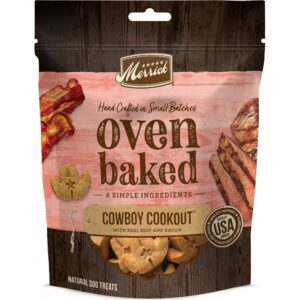 Merrick Oven Baked Cowboy Cookout Real Beef & Bacon Dog Treats